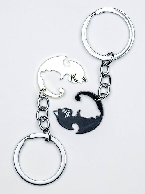 Furrever Paws Cat Keychain