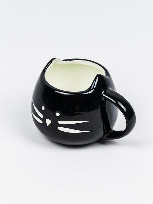 Cuddle Me Cat Mug - Black Cat side view