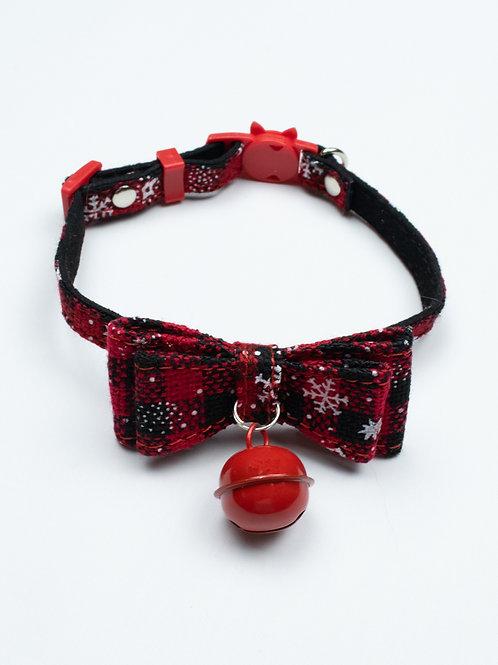 Christmas Bowtie Cat Collar - Red