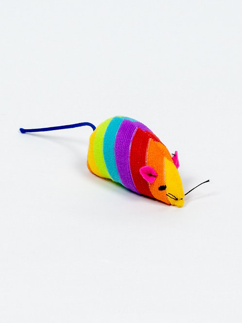 Rainbow Mouse Cat Toy