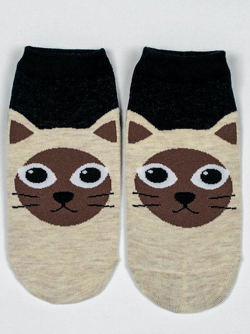 Kitty Kat Ankle Socks - Milo