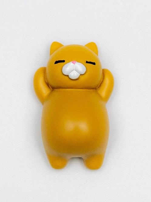 Sleepy Cat Fridge Magnet - Carrot