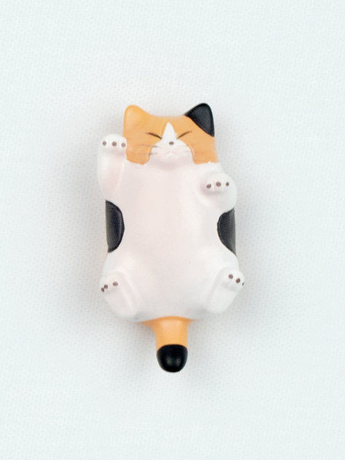 Fat Cat Fridge Magnet - Speckles, calico, front view