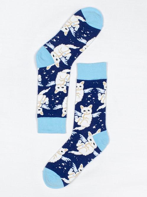 Men's Angel Cat Socks