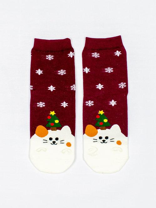 Meowy Catmas Socks