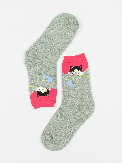 Peek-a-boo Cat Socks