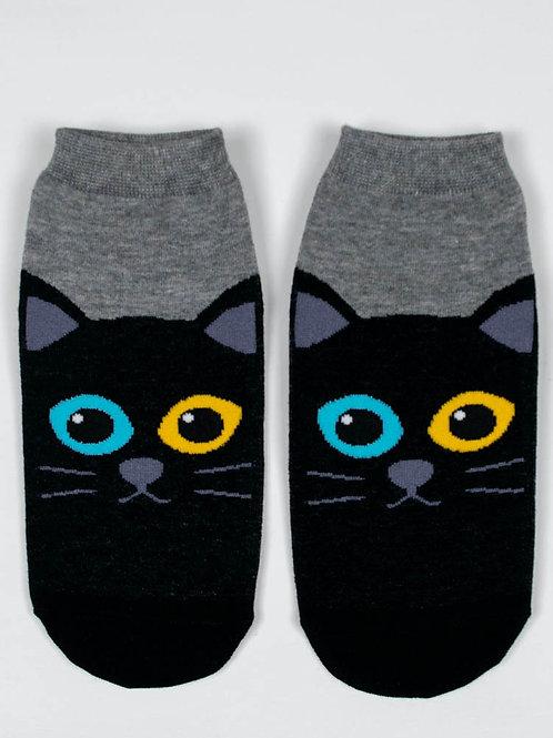 Kitty Kat Ankle Socks - Merlin