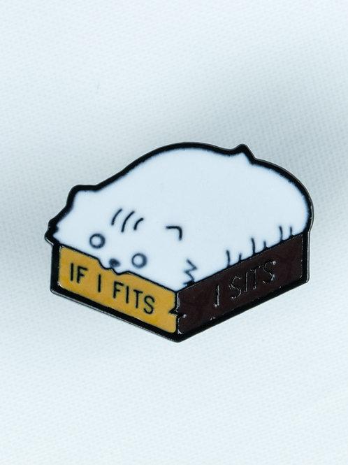I fits, I sits Enamel Pin