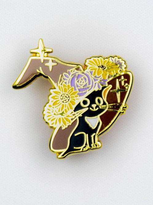 Wizard Cat Enamel Pin