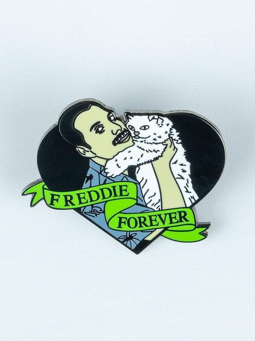 Freddie Mercury Cat Enamel Pin