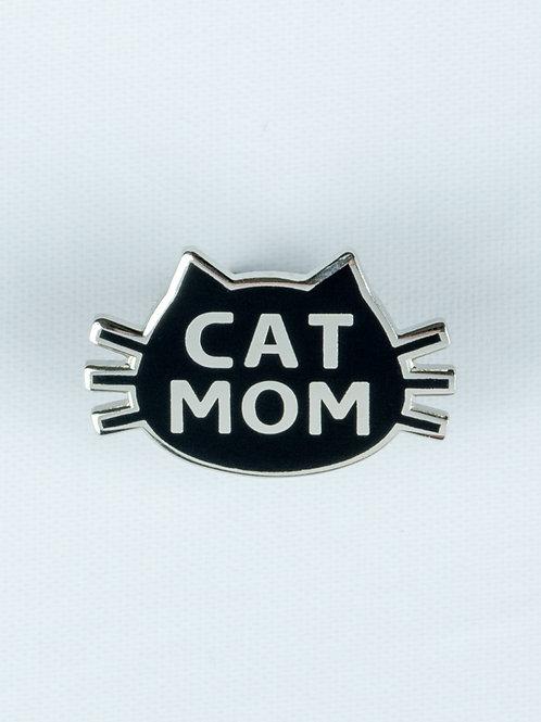 Cat Mom Enamel Pin