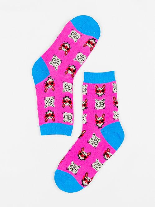 Nerd Cat Socks