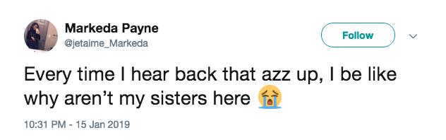 sisterhood back that azz up