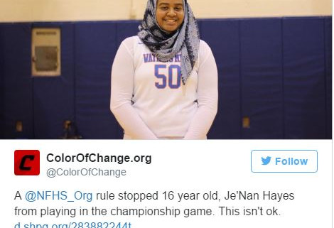 Muslim Basketball Player Banned From Game Because of Her Hijab