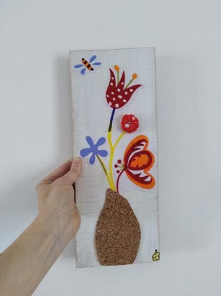 """Tableau à toucher série """"Dans mon jardin"""" #1"""