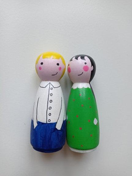 Elise et Emilie - poupées tracas