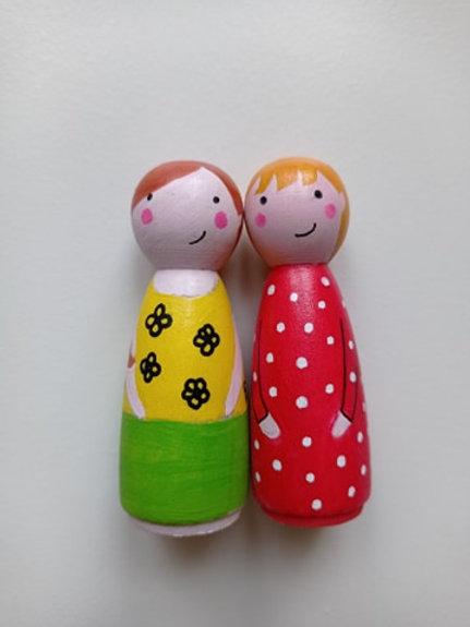 Juliette et Capucine - poupées tracas