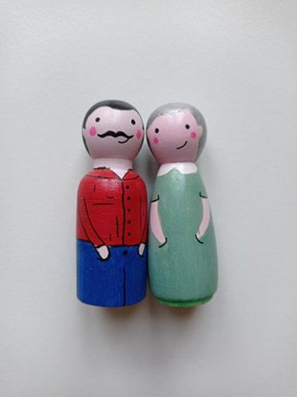 Câline et Christian - poupées tracas