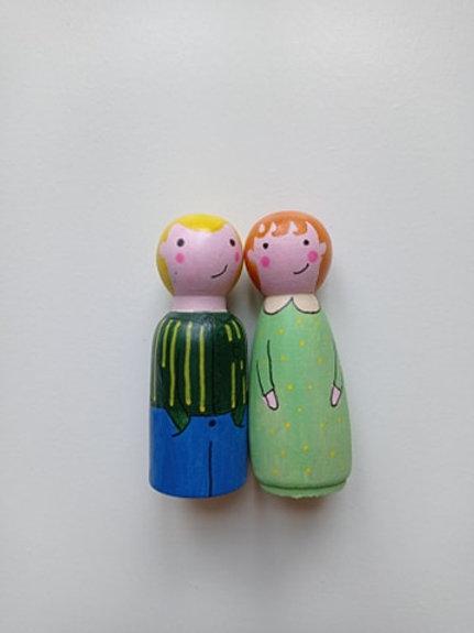 Mario et Alix - poupées tracas