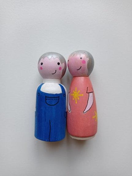 Raphaël et Lili - poupées tracas