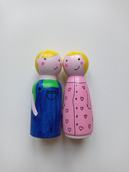 Elsa et Valentin - poupées tracas