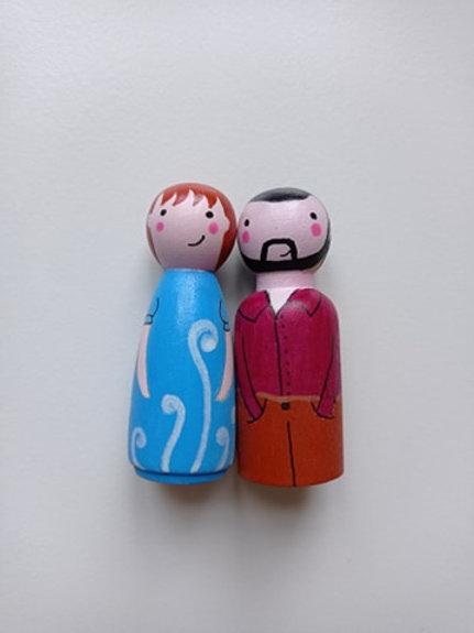 Julie et Sébastien - poupées tracas