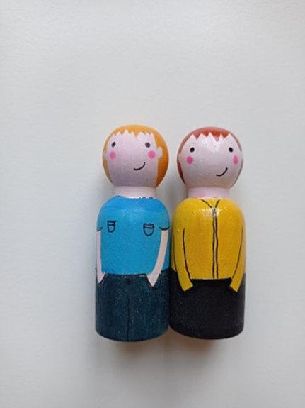 Hippolyte et Sacha - poupées tracas