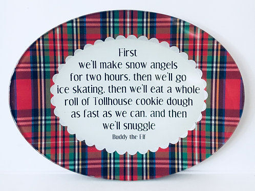 First we'll make snow angels for two hours...