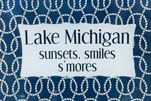 Lake Michigan sunsets, smiles, s'mores