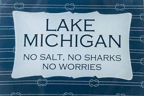 Lake Michigan - no salt, no sharks, no worries