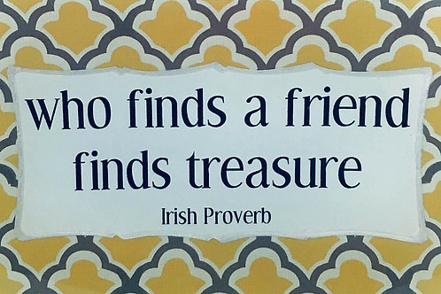 Who Finds A Friend...