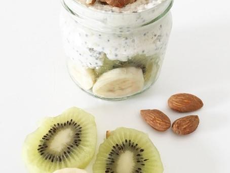 Bananen-Kiwi Overnight Oats