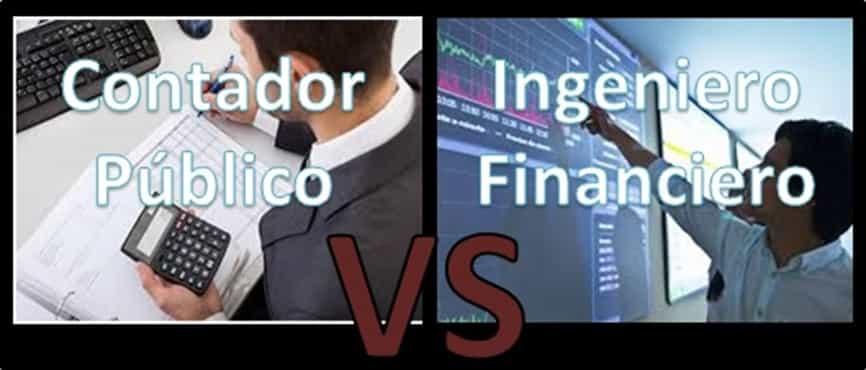 Cual es la diferencia entre un ingeniero financiero y un contador publico