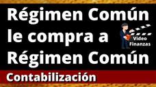 Responsable de IVA (Régimen Común) le compra a Responsable de IVA (Régimen Común). Contabilización