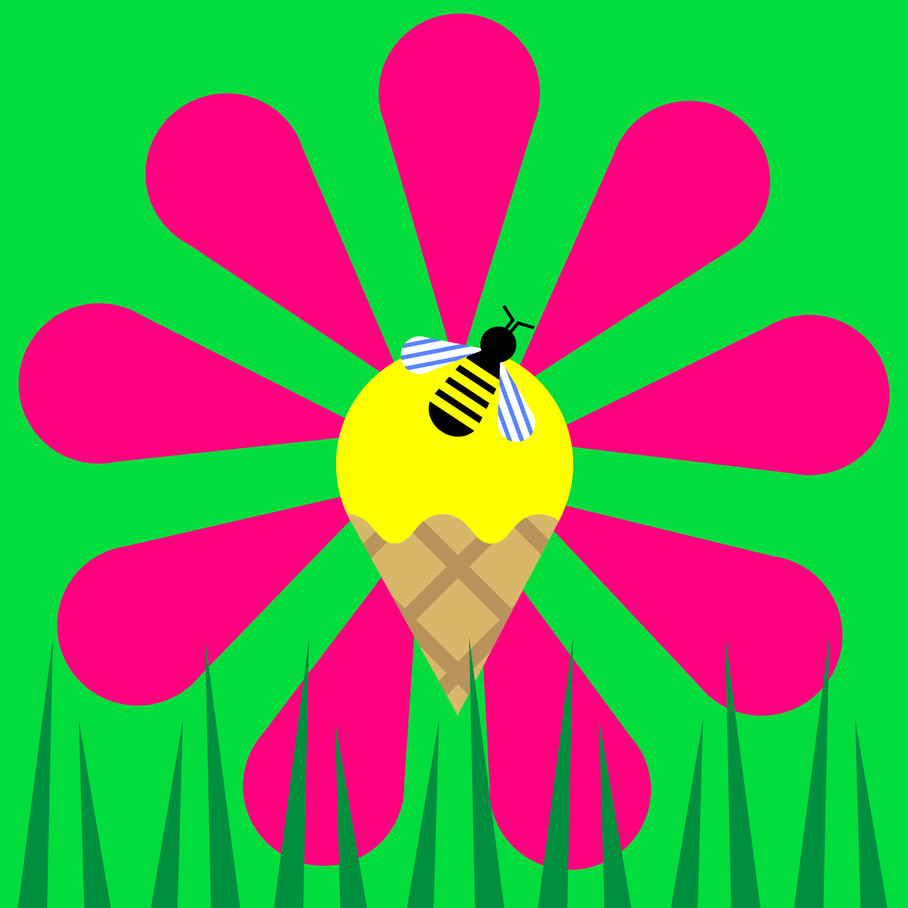 ice cream bee