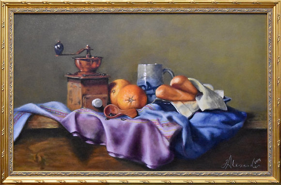 Coffee, Bread, and Oranges