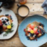 Fresh Fruit on Toast, Coffee
