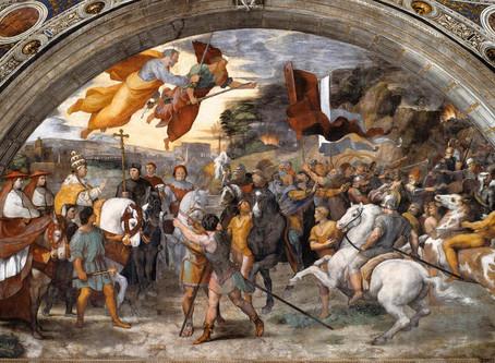 El encuentro de San León Magno con Atila