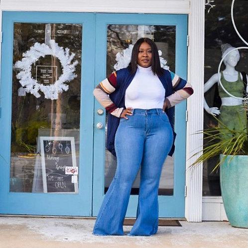 Gianna | Stripe Sleeve Cardigan