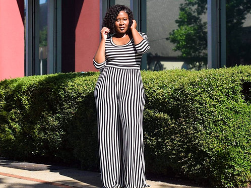 Cynthia | Striped Jumpsuit