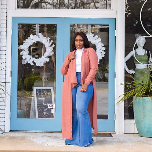 Alison | Blush Fleece Duster