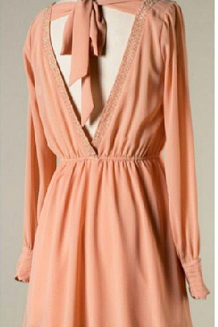 Lillian | Blush Slit Sleeve Mini Dress