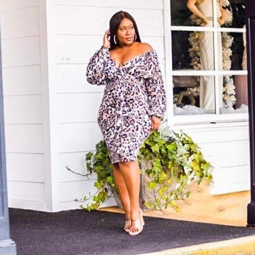 Ashanti | Cheetah Fleece Dress