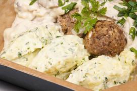 Beef-Meatballs in Pilzrahm