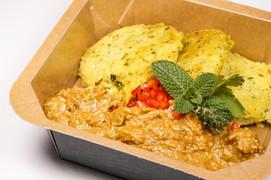 Butter Chicken mit Reiscookies