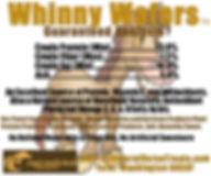 Whinny Wafers Guaranteed Analysis