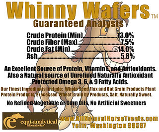 Whinny Wafers Guaranteed Analysis