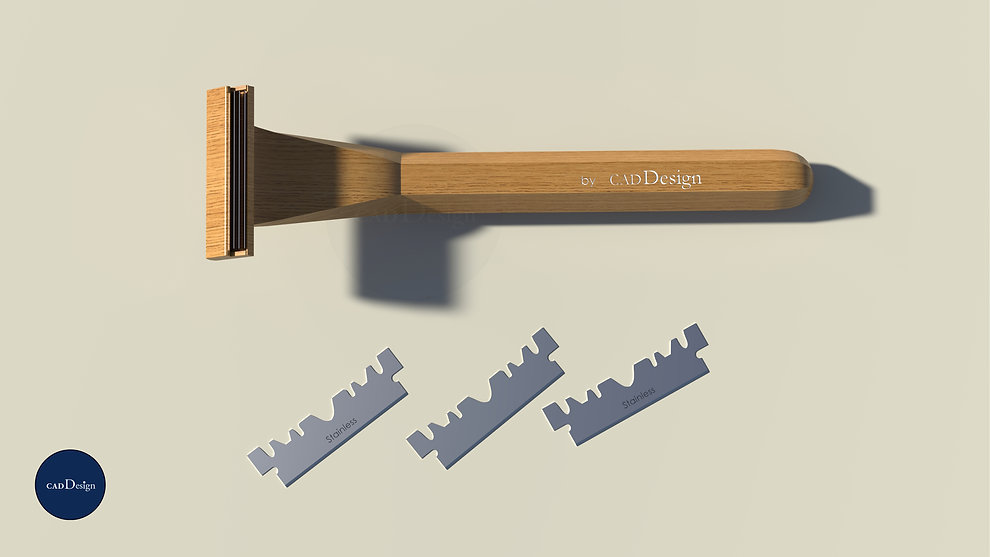 A Wooden Razor by Cad Design