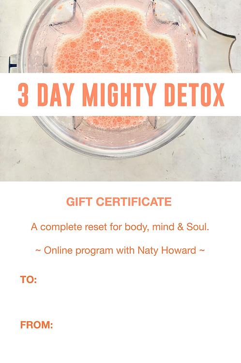 3 Day Mighty Detox