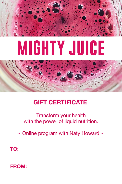 Mighty Juice, transform your health with the power of liquid nutrition